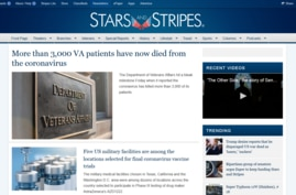 A portion of the Stars and Stripes home page.