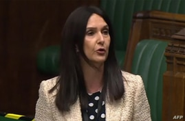 A video grab from footage broadcast by the UK Parliament's Parliamentary Recording Unit (PRU) shows Scottish National Party …