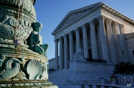 The Supreme Court is seen in Washington, Monday, Oct. 5, 2020, as the justices begin a new term following the recent death of…