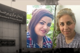 Arezoo Mohammadi left and Banafsheh Mokhtari, right,