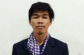 Cambodian online journalist Sovann Rithy (Phnom Penh Municipal Police Facebook Page)