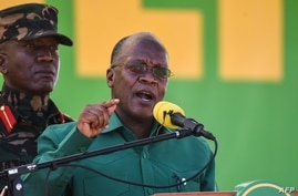 (FILES) In this file photograph taken on August 29, 2020, Tanzania's incumbent President and presidential candidate of ruling…