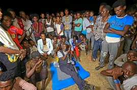 Ethiopian refugees who fled fighting in Tigray province are pictured at the Um Rakuba camp in Sudan's eastern Gedaref province,…
