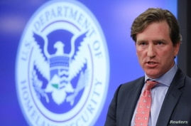 FILE PHOTO - U.S. Department of Homeland Security Under Secretary Chris Krebs speaks to reporters at the DHS Election…