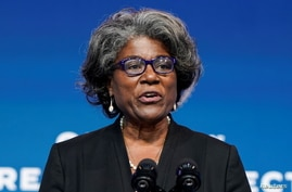 Linda Thomas-Greenfield, U.S. President-elect Joe Biden's choice to become the next U.S. ambassador to the United Nations.