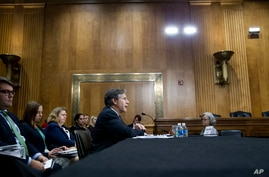 Deputy Secretary of State Anthony Blinken testifies on Capitol Hill in Washington, Thursday, Sept. 29, 2016, before the Senate Foreign Relations Committee hearing on Syria.