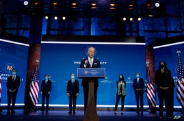 President-elect Joe Biden and Vice President-elect Kamala Harris introduce their nominees and appointees