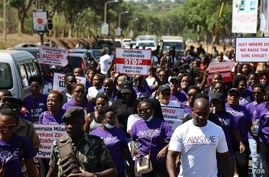 Hundreds of Malawian women marched Tuesday to protest rising incidents of sexual abuse of women and girls.