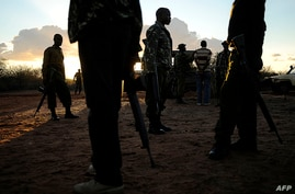 Kenyan security forces conduct a search mission at Liboi, Kenya's border town with Somaliaon  October 15, 2011 for two Spanish…