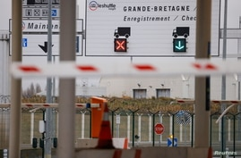 The Pit Stop at the Eurotunnel, where lorries are checked before boarding the Shuttle Freight from France to Britain, is seen…