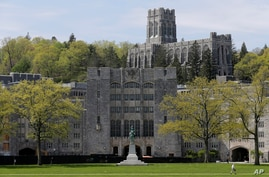 FILE - This May 2, 2019 file photo shows a view of the United States Military Academy at West Point, N.Y.