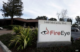 This Wednesday, Feb. 11, 2015 photo shows FireEye offices in Milpitas, Calif. The cybersecurity firm said Tuesday, Dec. 8, 2020…