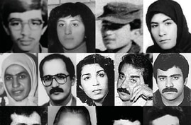Images of some of the Iranian political prisoners who rights groups say were among thousands of jailed dissidents killed by Iran's Islamist rulers in 1988. (Courtesy - Amnesty International)