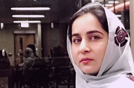 Karima Baloch is seen in a photo posted on her Twitter Dec. 15, 2016.