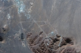 This Nov. 4, 2020, satellite photo by Maxar Technologies shows Iran's Fordo nuclear site.