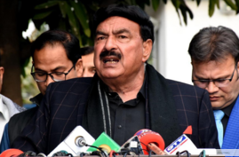 Pakistan Interior Minister Sheikh Rashid Ahmed  ( courtesy information ministry):