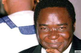 FILE - The Rev. Matthew Kukah is pictured at the inaugural session of the Nigerian Human Rights Violations Investigation Commission, Oct. 23, 2000, in Abuja, Nigeria.