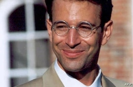 This is an undated file photo of Wall Street Journal reporter Daniel Pearl who disappeared in the Pakistani port city of…