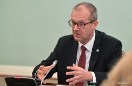 Hans Kluge, World Health Organization regional director for Europe, attends a meeting with Russian Prime Minister Mikhail…