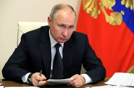 Russia's President Vladimir Putin chairs a joint meeting of the country's State Council and the Council for Strategic…