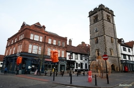 A view of the deserted High Street amid the coronavirus disease (COVID-19) lockdown in St Albans, Britain, January 5, 2021…