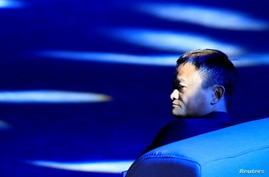 Alibaba Group co-founder and executive chairman Jack Ma attends the World Artificial Intelligence Conference (WAIC) in Shanghai…