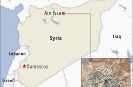 Map of Ain Issa Syria
