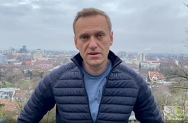 Russian opposition politician Alexei Navalny is seen in a still image from video in Germany, in this undated image obtained from social media, Jan. 13, 2021.