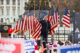U.S. President Donald Trump holds a rally to contest the certification of the 2020 U.S. presidential election results by the U.S. Congress, in Washington, January 6, 2021.