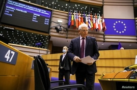 European High Representative of the Union for Foreign Affairs and Security Policy, Josep Borrell attends a debate folllowing…