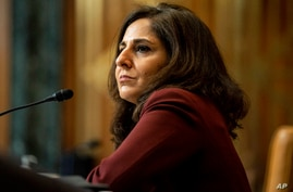 FILE - In this Feb. 10, 2021, file photo Neera Tanden, President Joe Biden's nominee for Director of the Office of Management…