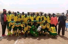 South Sudan's newly formed Women's National Football League. (Courtesy photo, Twitter @jeansseninde k)