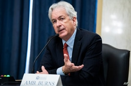 William Burns, nominee for Central Intelligence Agency director, testifies during his Senate Select Intelligence Committee confirmation hearing, Feb. 24, 2021, on Capitol Hill in Washington, D.C.