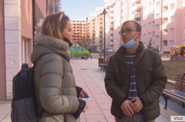 FILE - In a screenshot from video, Kosovo investigative reporter Visar Duriqi speaks with VOA Albanian Service stringer Edlira Bllaca.