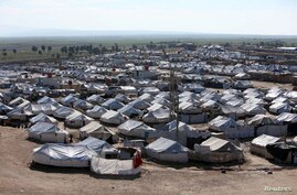 FILE - A general view of al-Hol displacement camp in Hasaka governorate, Syria, April 2, 2019.