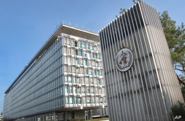This Wednesday, March 11, 2015 photo shows the World Health Organization (WHO) headquarters building in Geneva, Switzerland. In…