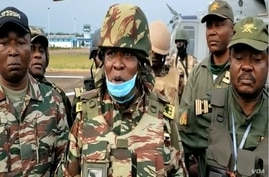 General Valere Nka, commander of the Cameroonian troops fighting separatists in the English-speaking North-West region, Dec. 12, 2020