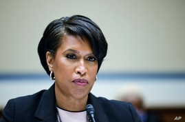 Washington, D.C., Mayor Muriel Bowser testifies before a House Oversight and Reform Committee hearing on the District of Columbia statehood bill, March 22, 2021 on Capitol Hill in Washington.