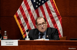 House Judiciary Committee Chairman Rep. Jerrold Nadler, D-N.Y., speaks during a U.S.House Judiciary Committee about political…