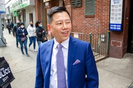 Inspector Tommy Ng, the new leader of the NYPD's Asian Hate Crime Task Force, is in the Chinatown neighborhood in the borough…