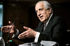 Zalmay Khalilzad, special envoy for Afghanistan Reconciliation, testifies before the Senate Foreign Relations Committee on…