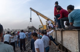An increasing number of deadly rail accidents in recent years in Egypt have been blamed on poor maintenance and infrastructure, April 18, 2021. (Hamada Elrasam/VOA)