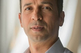 The image shows Libyan journalist Reda Fhelboom. (VOA/Taha Krewi)