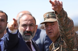This handout photograph taken and released by The Armenian Government Press Service on May 27, 2021, shows Armenian acting…