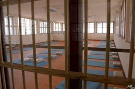 In this photo released by Department of Corrections, an empty room is seen at COVID-19 prisoners field hospital set up at…