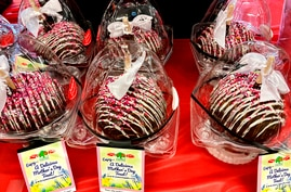 Mother's Day desserts are displayed on a table at a retail store in Morton Grove, Illinois, May 8, 2021.