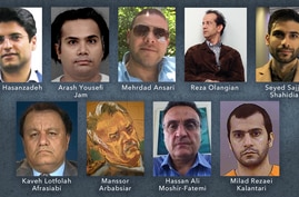 Nine of at least 13 Iranians who are in U.S. detention or under U.S. court-ordered restrictions on their movements and could be part of a future prisoner swap with Iran.