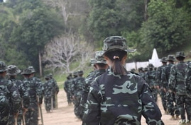This handout photo from local media group Kantarawaddy Times taken on May 10, 2021 and released on June 4 shows military…