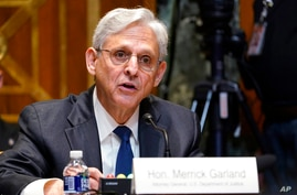 Attorney General Merrick Garland testifies before the Senate Appropriations Subcommittee on Commerce, Justice, Science, and…