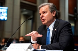 FBI Director Christopher Wray testifies before the House Judiciary Committee oversight hearing on the Federal Bureau of…